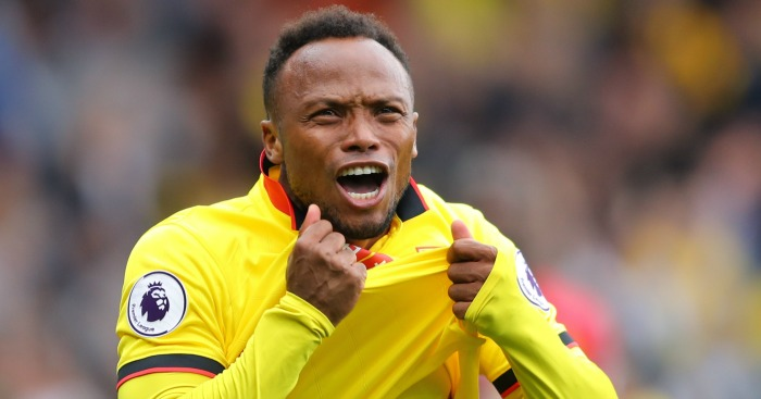 Juan Camilo Zuniga: Celebrates Watford's second