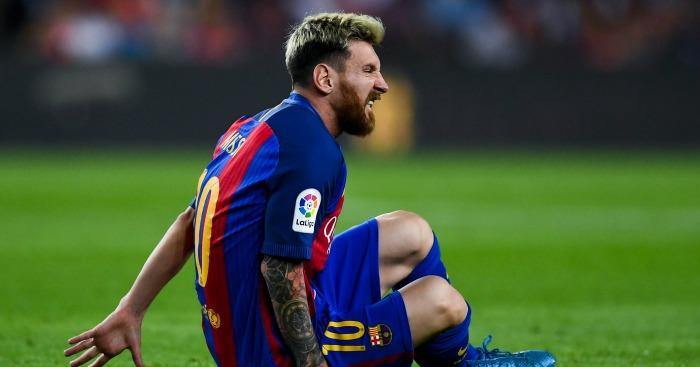 Lionel Messi: Injured last night