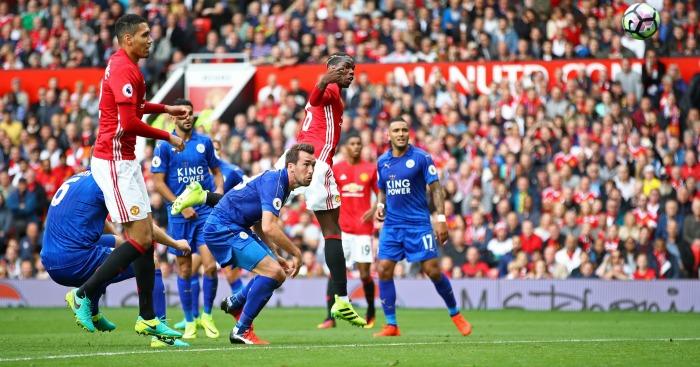 Paul Pogba: Heads in his first Man Utd goal