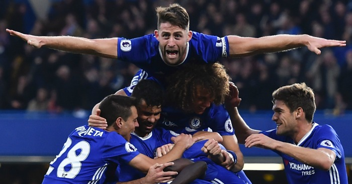 Gary Cahill: Defender celebrates Chelsea's fourth