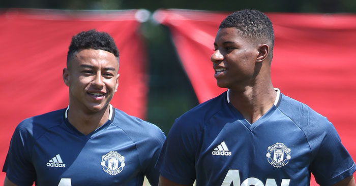 Jesse Lingard and Marcus Rashford: Back in England fold
