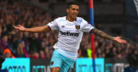 Manuel Lanzini: Celebrates West Ham winner