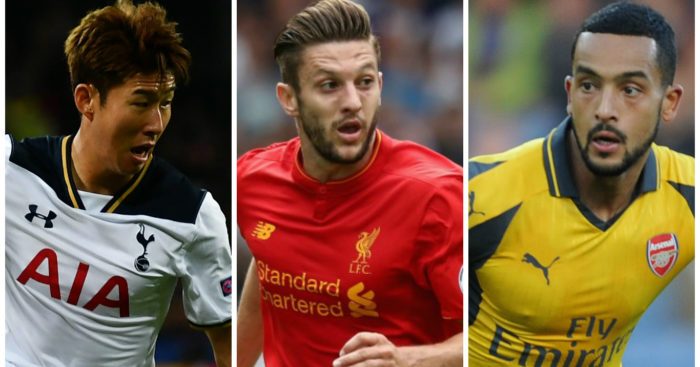 Son, Lallana & Walcott: Nominated for player of the month