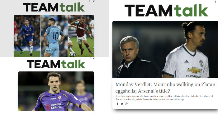 TEAMtalk Newsletter: Sign up below