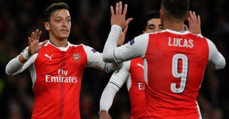 Mesut Ozil: Midfielder celebrates second goal