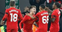 Ben Woodburn: Celebrates his historic goal
