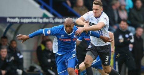 Calvin Andrew: Striker in action last term