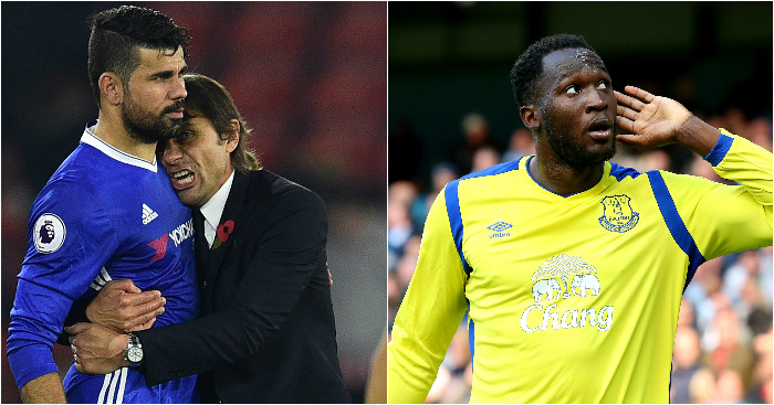 Costa and Lukaku: Will clash this weekend