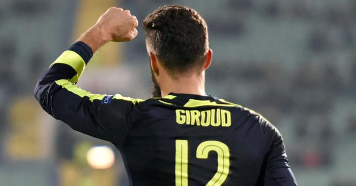 Olivier Giroud: On target before Mesut Ozil winner