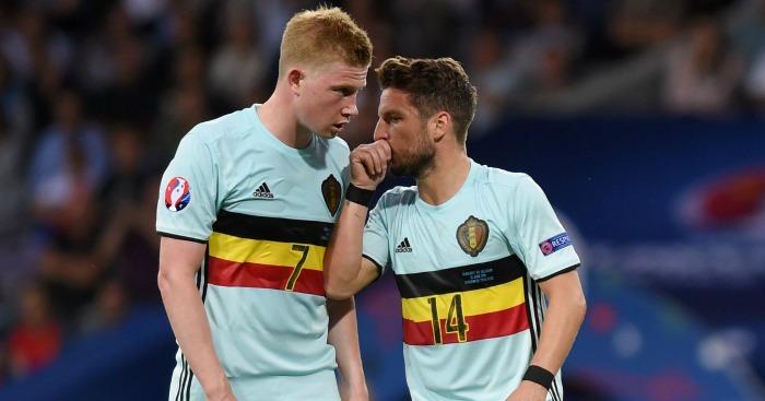 Kevin De Bruyne: Dries Mertens could get start