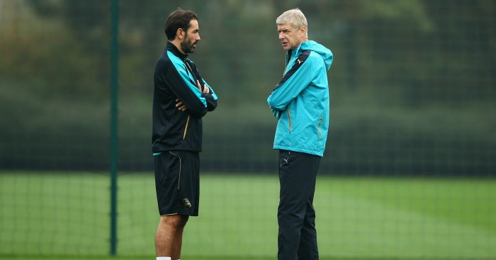 Robert Pires: Former player in training with Arsenal