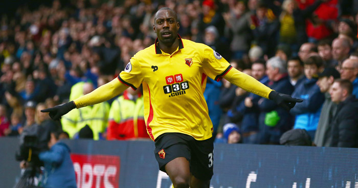 Stefano Okaka: At the double for Watford v Everton