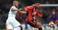 Younes Kaboul: Keeps a close watch on goalscorer Joshua King