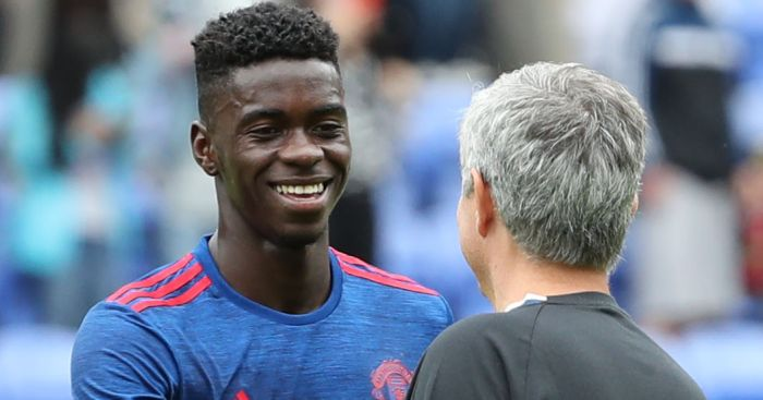 Axel Tuanzebe: Training with first team