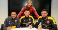 Coquelin, Koscielny & Giroud: Commit to Arsenal