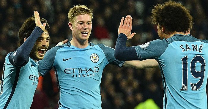 Kevin de Bruyne: On target from Man City