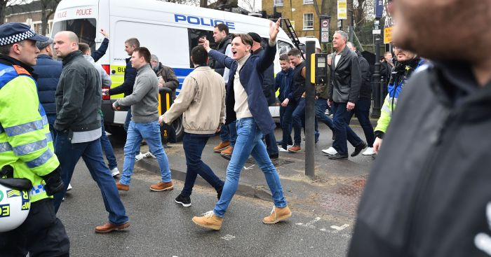 Millwall fans: Accused of verbally abusing a Spurs player