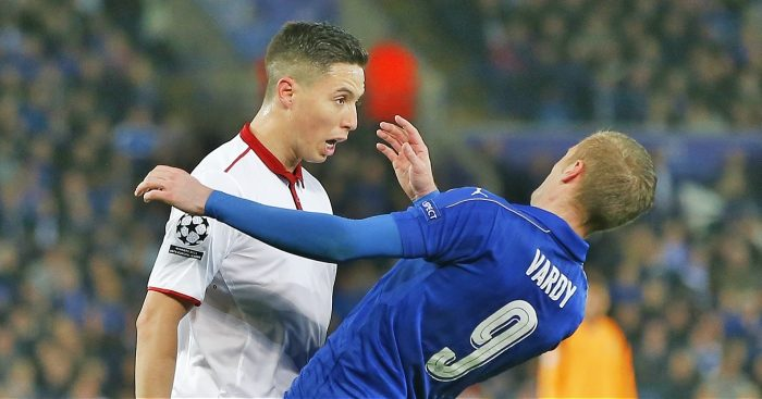 Samir Nasri: Unhappy with Jamie Vardy antics