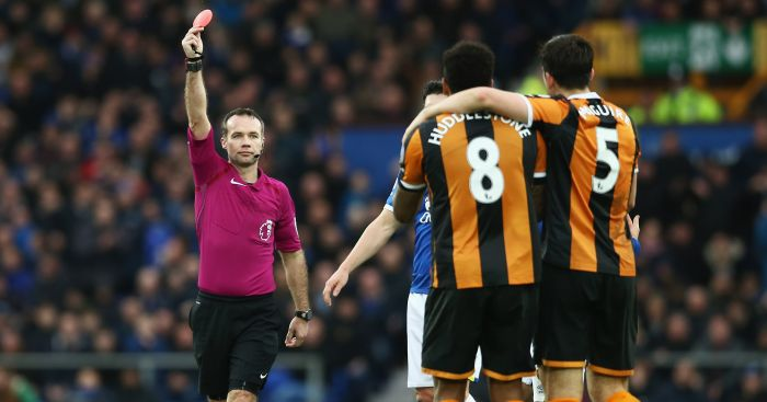 Tom Huddlestone: Saw red in Hull's loss at Everton