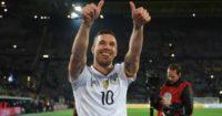 Lukas Podolski: Scored the winner against England in Dortmund
