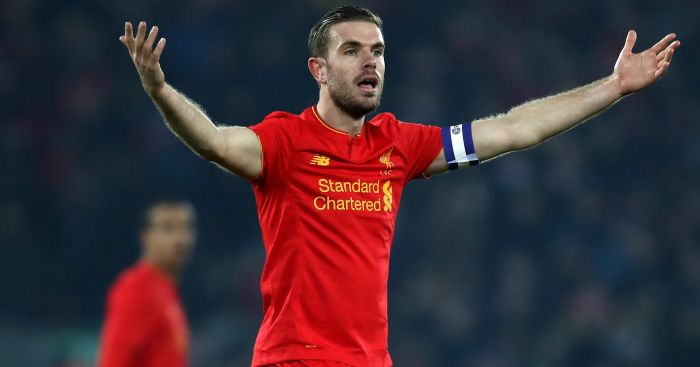 Jordan Henderson: Remains on the sidelines for Liverpool