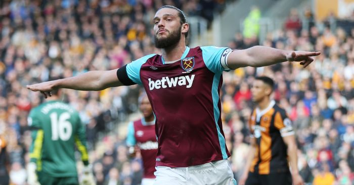 Andy Carroll: Celebrates his goal against Hull