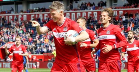 Bastian Schweinsteiger: On target on his MLS debut