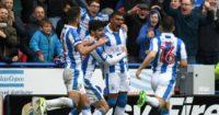 Huddersfield Town celebrate