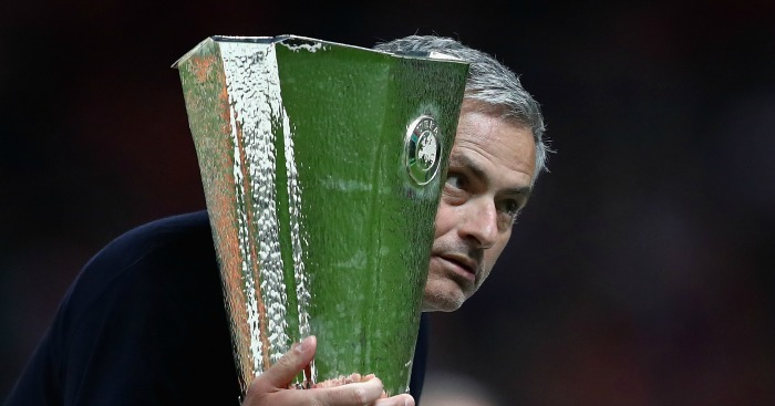 Jose Mourinho Europa League trophy