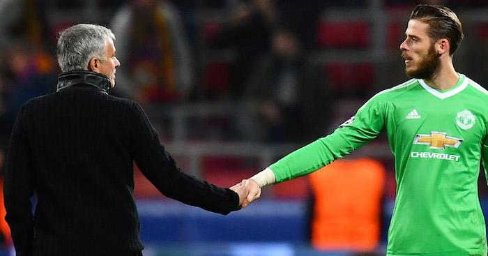 Image result for Mourinho and De Gea