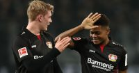 Julian Brandt, Leon Bailey Bayer Leverkusen celeb TEAMtalk