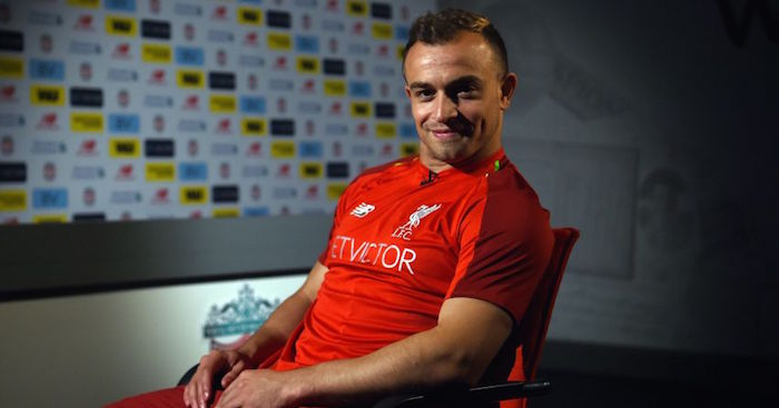 d32a32da771 Xherdan Shaqiri is set to meet up with his new Liverpool team-mates in New  Jersey as he joins the tour of the United States.