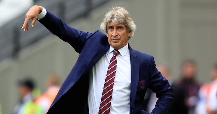 LONDON, ENGLAND - AUGUST 18: Manuel Pellegrini manager of West Ham United during the Premier League match between West Ham United and AFC Bournemouth at London Stadium on August 18, 2018 in London, United Kingdom. (Photo by Marc Atkins/Getty Images)