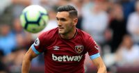 LONDON, ENGLAND - AUGUST 18: Lucas Perez of of West Ham United during the Premier League match between West Ham United and AFC Bournemouth at London Stadium on August 18, 2018 in London, United Kingdom. (Photo by Marc Atkins/Getty Images)