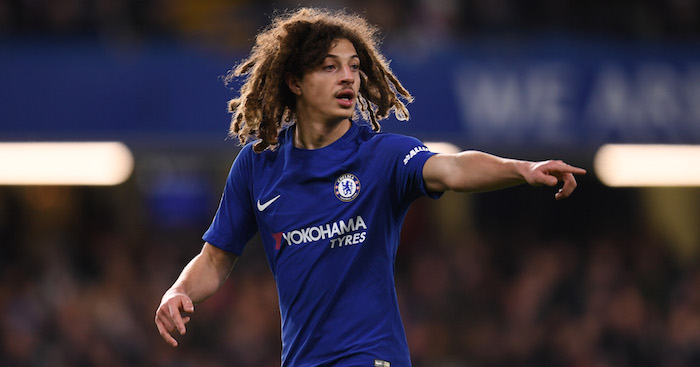 LONDON, ENGLAND - FEBRUARY 16: Ethan Ampadu of Chelsea in action during The Emirates FA Cup Fifth Round match between Chelsea and Hull City at Stamford Bridge on February 16, 2018 in London, England. (Photo by Mike Hewitt/Getty Images)