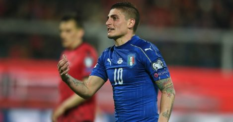 during the FIFA 2018 World Cup Qualifier between Italy and Albania at Stadio Renzo Barbera on March 24, 2017 in Palermo, .