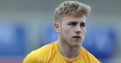 BURTON UPON TRENT, ENGLAND - MARCH 21: Paul Woolston of England during the U17 Euro Elite Qualifying Round match between England and Norway at the Pirelli Stadium on March 21, 2015 in Burton upon Trent, England. (Photo by Clint Hughes/Getty Images)