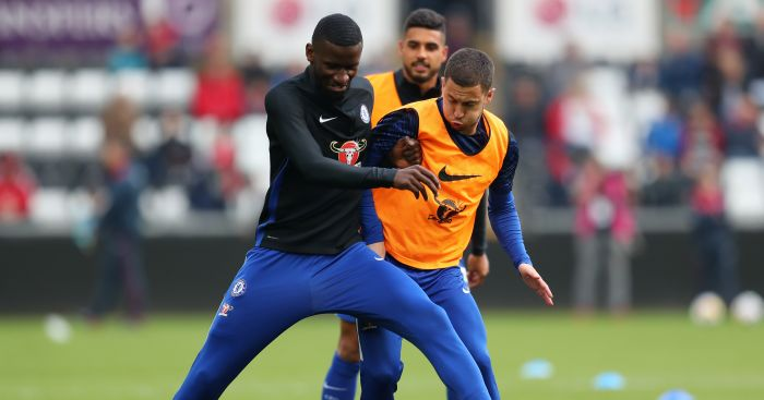 Rudiger puts pressure on three Chelsea players to help Hazard