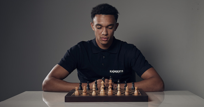 Liverpool & England Football Player Trent Alexander Arnold Training day with Kaspersky Lab and Work Chess Championship. 30th September 2018 Picture By Mark Robinson.