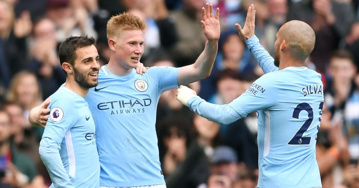 Kevin.de .Bruyne.David .Silva  - Predictions: Everton v Liverpool goalfest; win tonic for Solskjaer; Arsenal to stun City