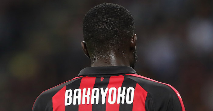 during the UEFA Europa League Group F match between AC Milan and Olympiacos at Stadio Giuseppe Meazza on October 4, 2018 in Milan, Italy.