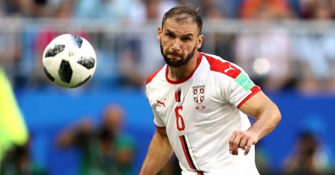 during the 2018 FIFA World Cup Russia group E match between Costa Rica and Serbia at Samara Arena on June 17, 2018 in Samara, Russia.