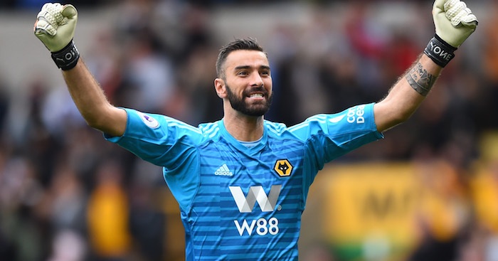during the Premier League match between Wolverhampton Wanderers and Burnley FC at Molineux on September 16, 2018 in Wolverhampton, United Kingdom.