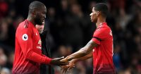 during the Premier League match between Manchester United and Everton FC at Old Trafford on October 28, 2018 in Manchester, United Kingdom.