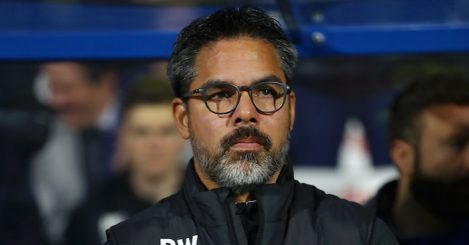 during the Premier League match between Huddersfield Town and Fulham FC at John Smith's Stadium on November 5, 2018 in Huddersfield, United Kingdom.