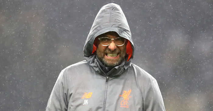 PORTO, PORTUGAL - FEBRUARY 14: Jurgen Klopp, Manager of Liverpool during the UEFA Champions League Round of 16 First Leg match between FC Porto and Liverpool at Estadio do Dragao on February 14, 2018 in Porto, Portugal. (Photo by Julian Finney/Getty Images)
