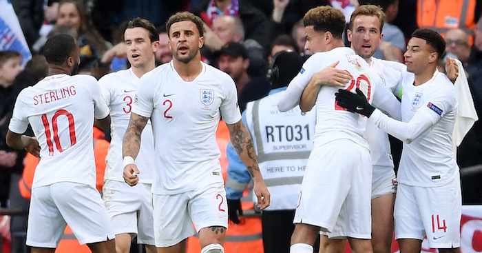 during the UEFA Nations League A group four match between England and Croatia at Wembley Stadium on November 18, 2018 in London, United Kingdom.
