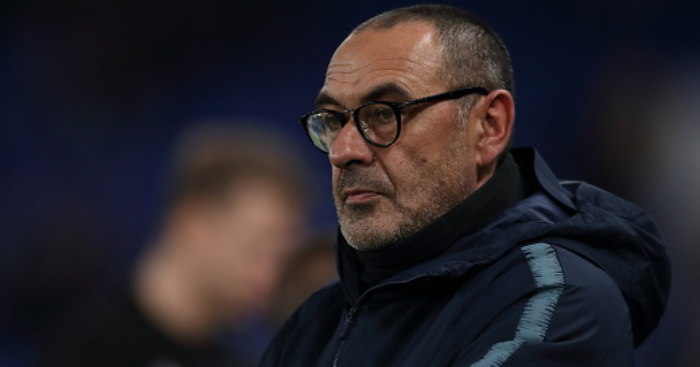 LONDON, ENGLAND - NOVEMBER 29: Chelsea manager head coach Maurizio Sarri during the UEFA Europa League Group L match between Chelsea and PAOK at Stamford Bridge on November 29, 2018 in London, United Kingdom. (Photo by James Williamson - AMA/Getty Images