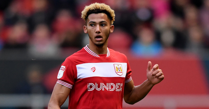 BRISTOL, ENGLAND - DECEMBER 02: Lloyd Kelly of Bristol City on the ball during the Sky Bet Championship match between Bristol City and Millwall at Ashton Gate on December 2, 2018 in Bristol, England. (Photo by Alex Davidson/Getty Images)