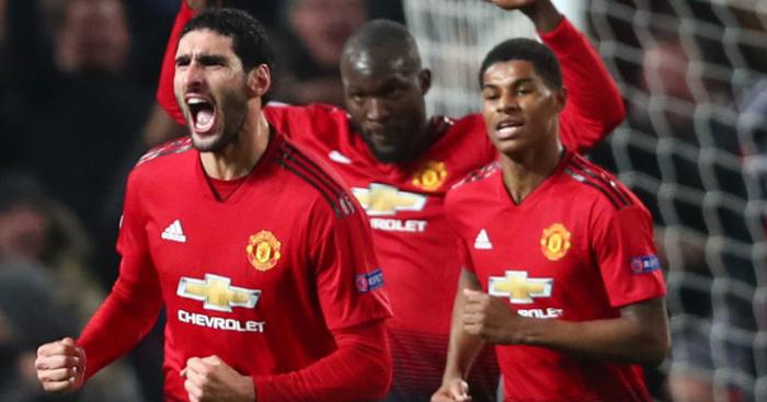 Marouane.Fellaini.Marcus.Rashford.Romelu.Lukaku1 - Euro Paper Talk: Star teases Liverpool, Chelsea on €65m move; Real in €160m bid